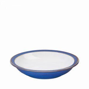 Denby Imperial Blue Shallow Rimmed Bowl 21cm