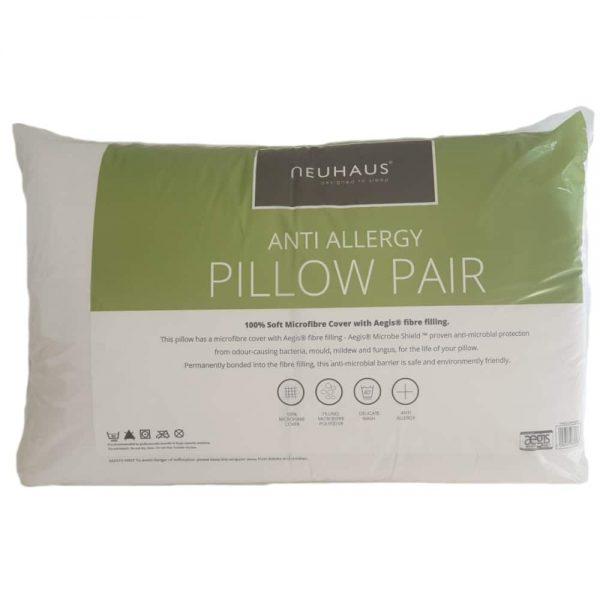 Newhaus Anti Allergy Aegis Pillows Pair