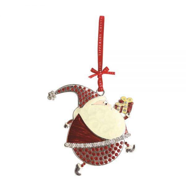 Tipperary Crystal Bling Santa Decoration