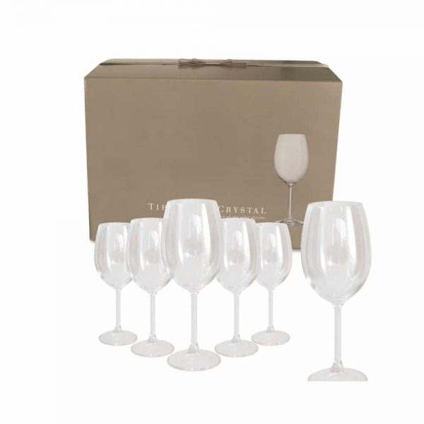 Tipperary Crystal 6 Connoisseur Wine Glasses 450ml