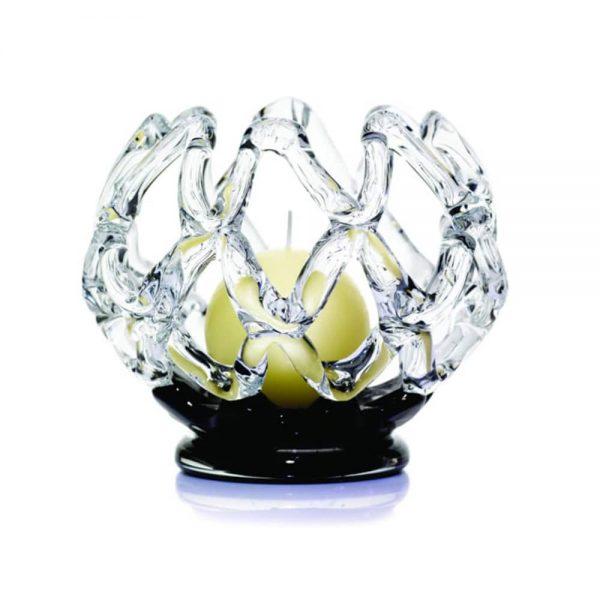 iNet Ball Candleholder 16.5cm Dia Black Base