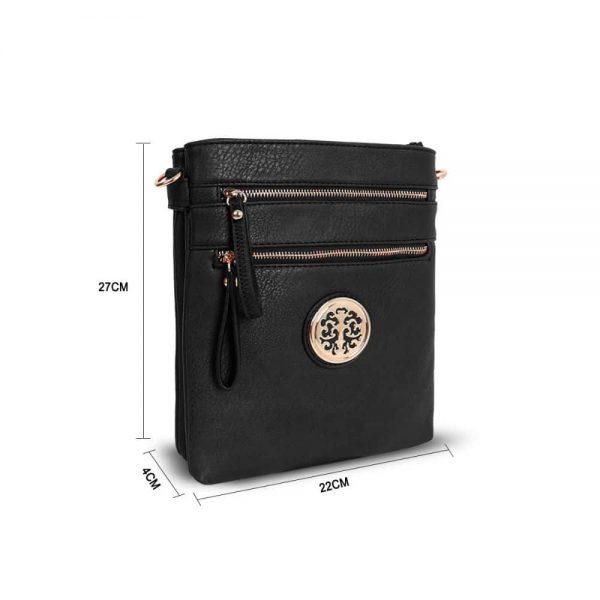 Gessy Cross Body Bag In Black