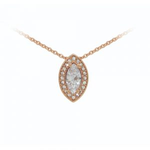 Rose Gold Marquise Cut Pendant (BNO1657S)