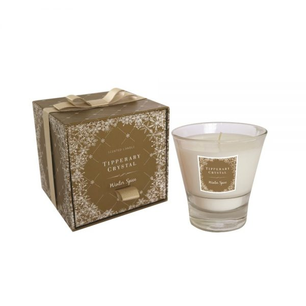 Tipperary Crystal Winter Spice Christmas Candle