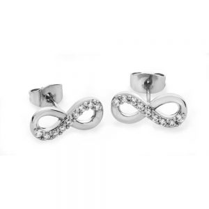Tipperary Crystal Infinity Earrings Silver