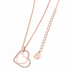 Floating Hear Pendant Rose Gold