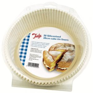Siliconised 20cm Cake Tin Liners Pack of 50