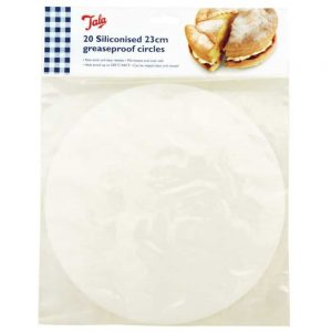 Siliconised 23cm Greaseproof Circles Pack of 20