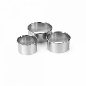 Pastry Cutters Plain Set Of 3 Stainless Steel