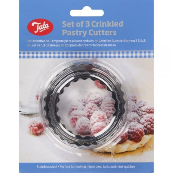 Pastry Cutters Crinkled Set Of 3 Stainless Steel