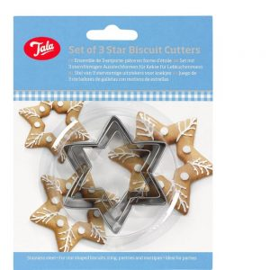 Plain Star Cutters Set Of 3 Stainless Steel