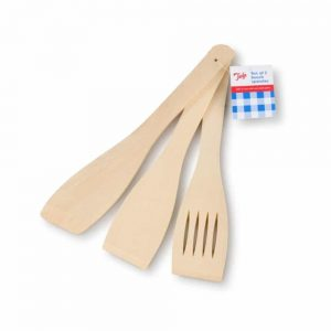 Set of 3 Beech Spatulas