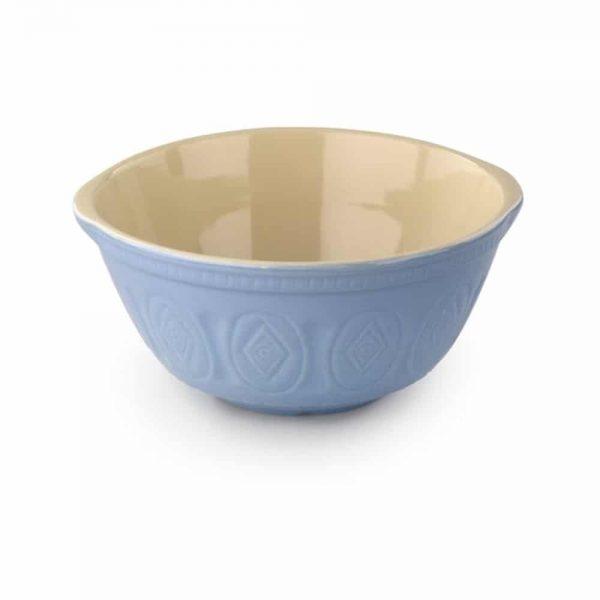 Blue Stoneware Mixing Bowl 30cm