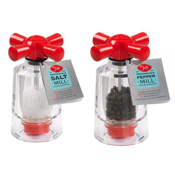 Tala Performance Red Salt & Pepper Tap Mill Set