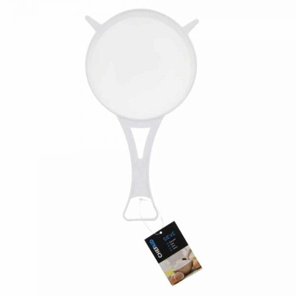 Sieve White Plastic Strainer Nylon Mesh 15cm