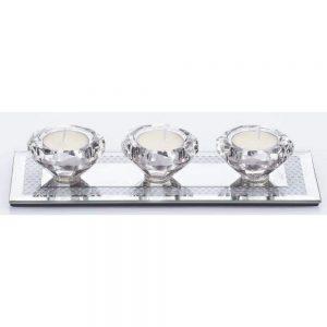 Gemstone T Light Holder 3pc