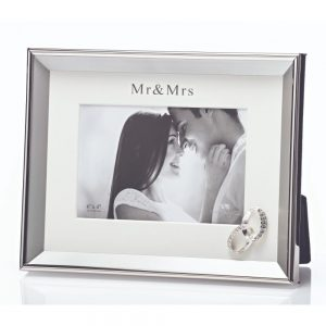 Mr and Mrs Photo Frame 6x4 Rings