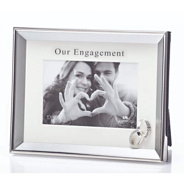 Our Engagement Photo Frame 6x4 Rings