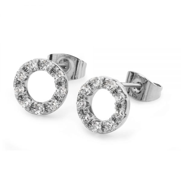 Tipperary Forever Moon Earrings Silver