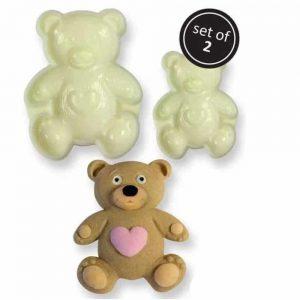 POP IT - Teddy Set of Two Moulds