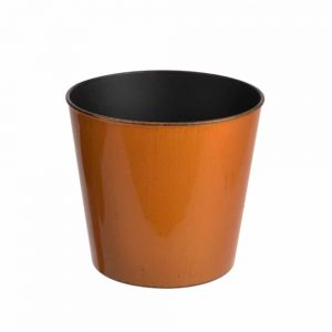 Recyclable Plastic Pot Cover 24cm Orange