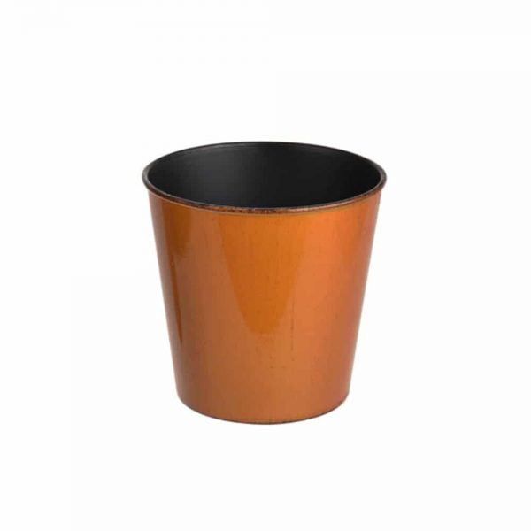 Recyclable Plastic Pot Cover Rnd 15.5cm Orange