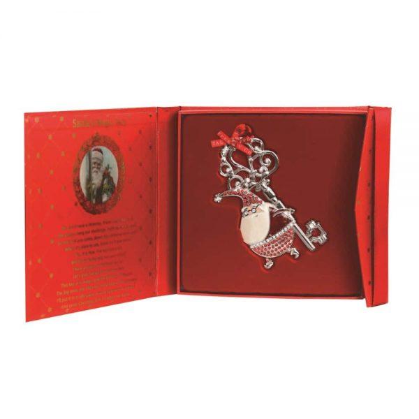 Sparkle Santa with Magical Key Decoration