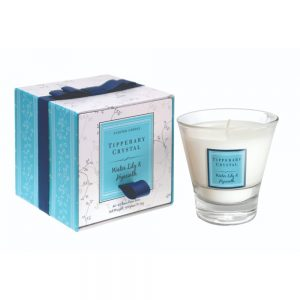 Tipperary Crystal Water Lily & Hyacinth Jar Candle