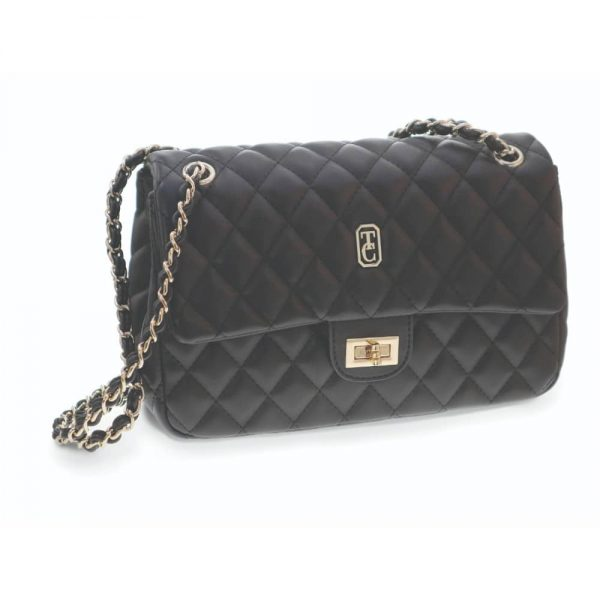 Tipperary Quilted Palermo Shoulder Bag Black