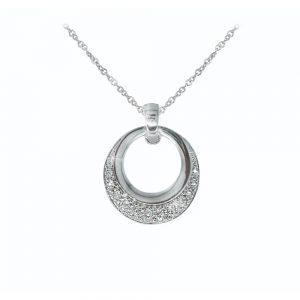 Tipperary Crystal Silver Circle Pendant