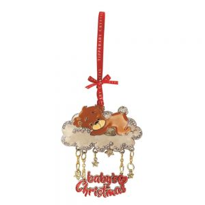 Tipperary Crystal Cloud Bear Christmas Decoration