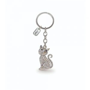 Tipperary Crystal Cat Sparkle Keychain