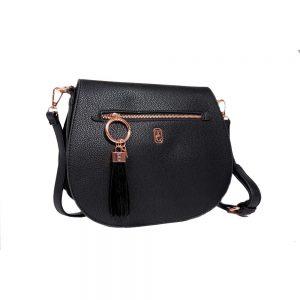 Tipperary Crystal Savoy Large Satchel Bag Black