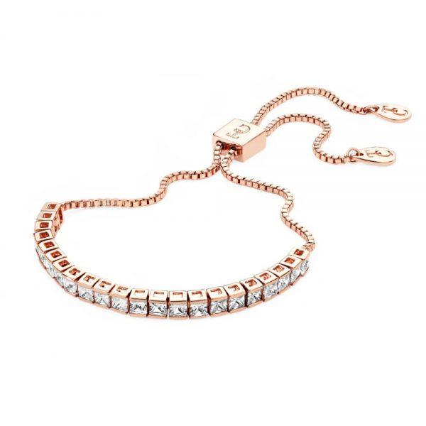 Tipperary Square Tennis Bracelet Rose Gold