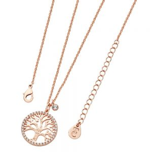 Tipperary Tree Of Life Necklace and Cz Rose Gold