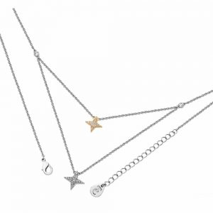 Tipperary Floating Pave Star Necklace Silver