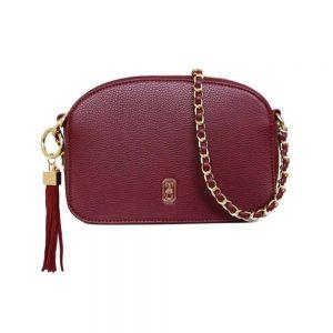 Tipperary Cannes Shoulder Bag Burgundy