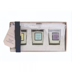 Tipperary Set of 3 Mini Candles in Glass
