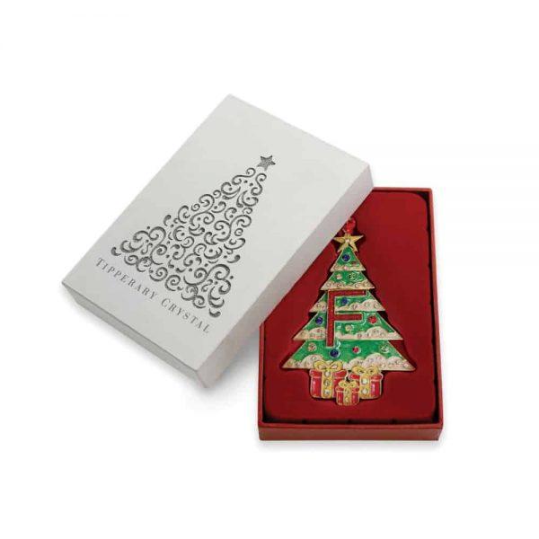 Tipperary Alphabet Christmas Tree Decoration   F