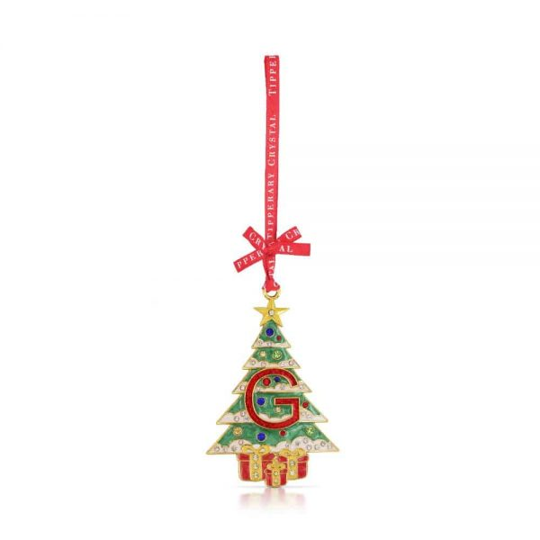 Tipperary Alphabet Christmas Tree Decoration   G
