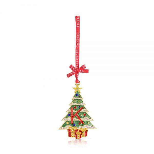 Tipperary Alphabet Christmas Tree Decoration   K