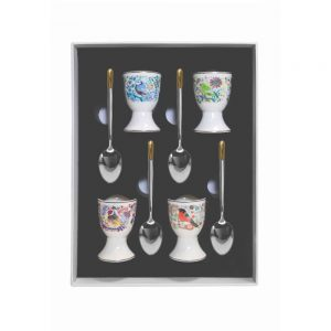 Tipperary Birdy Set of 4 Egg Cup and Spoon
