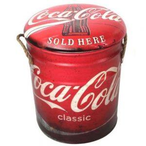 Coca Cola Metal Stool