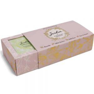 Tipperary Crystal Jardin Set of 4 Mini Soaps