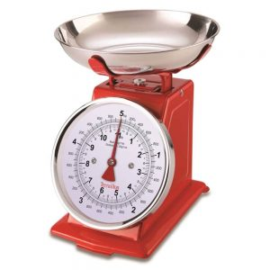 Terraillon Traditional Kitchen Scales 5KG Red