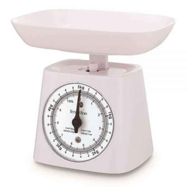 Terraillon Kithen Scale with Bowl 5KG White