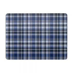 Checks Blue Black 6 Piece Placemat & Coaster Set