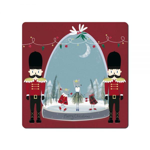 Denby Snowglobe Square Placemats & Coasters Set 6