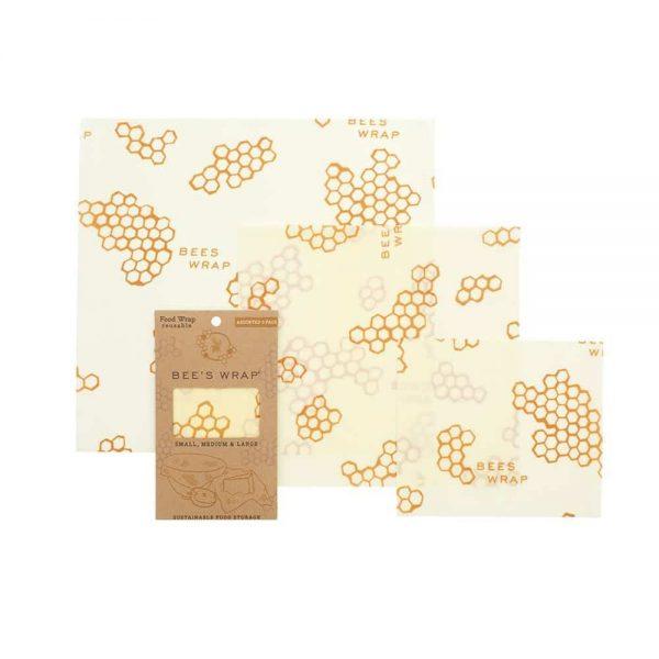 Bees Wrap Set of 3 Reusable Food Wraps