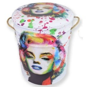 Marilyn Metal Stool With Padded Seat